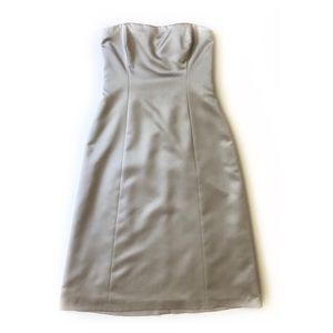 Nicole Miller Silver / Gray Satin Dress